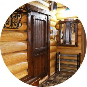 Межкомнатные двери под старину из массива сосны