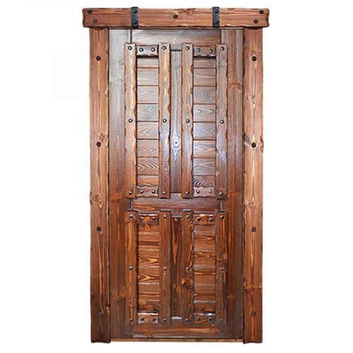 """Дверь межкомнатная из массива сосны под старину """"Добряк 3"""""""