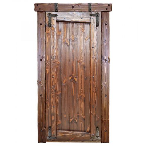 """Дверь межкомнатная из массива сосны под старину """"Медведь 1"""""""