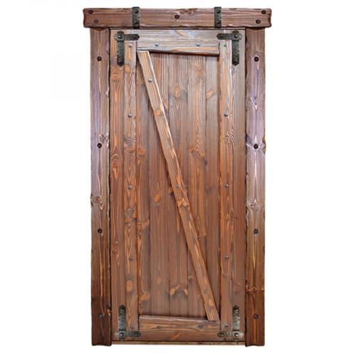 """Дверь межкомнатная из массива сосны под старину """"Медведь 2"""""""