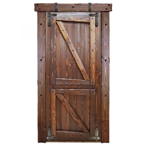 """Дверь межкомнатная из массива сосны под старину """"Медведь 4"""""""