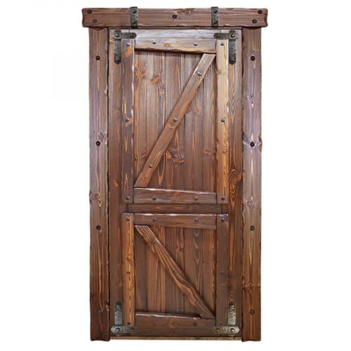 """Дверь межкомнатная из массива сосны под старину """"Медведь 5"""""""