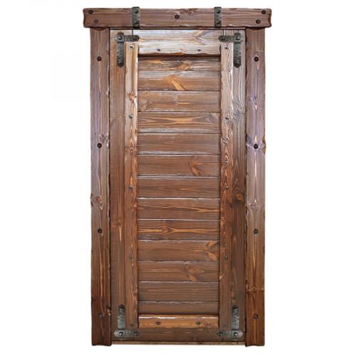 """Дверь межкомнатная из массива сосны под старину """"Русич 1"""""""