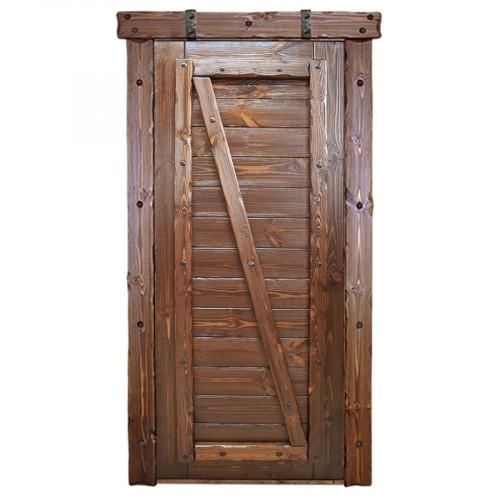 """Дверь межкомнатная из массива сосны под старину """"Русич 2"""""""