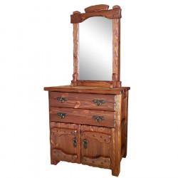 """Комод """"Барин 1"""" (2 ящика+2 двери) с элементами ковки и зеркалом"""