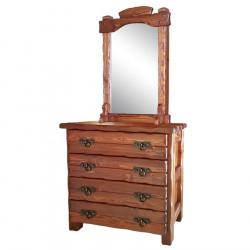 "Комод ""Барин 2"" (4 ящика) с элементами ковки и зеркалом"