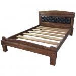 """Кровать """"Барин 3"""" с мягкой спинкой (каретная стяжка)"""