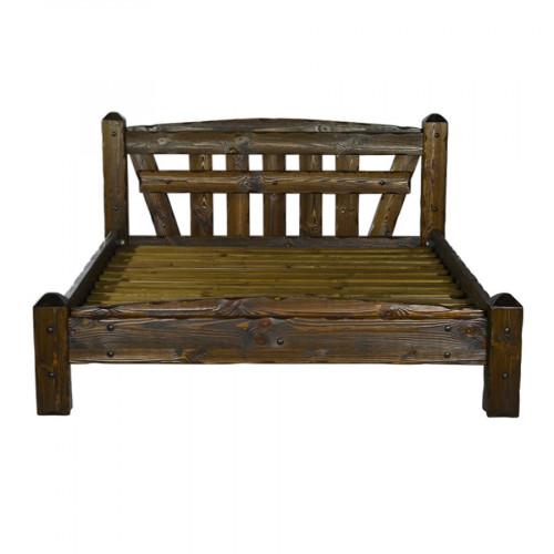 """Кровать из массива сосны под старину """"Добряк"""""""