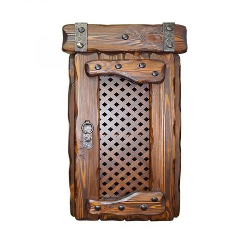 """Ящик навесной из массива сосны под старину """"Элегия"""" (1 дверь)"""