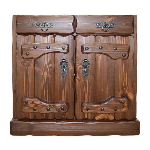 """Ящик напольный из массива сосны под старину """"Государь"""" (2 ящика, 2 двери)"""