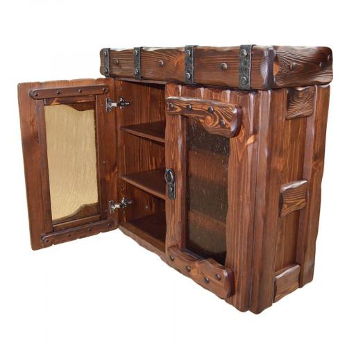 """Ящик навесной из массива сосны под старину """"Государь"""" (2 двери)"""