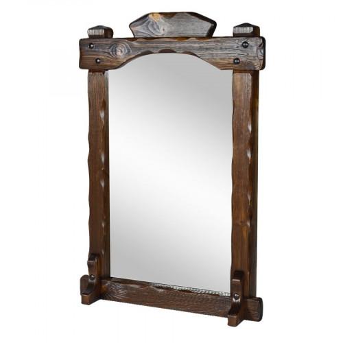 """Зеркало из массива сосны под старину """"Добряк"""""""