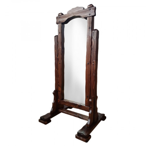 """Зеркало напольное из массива сосны под старину """"Добряк"""""""