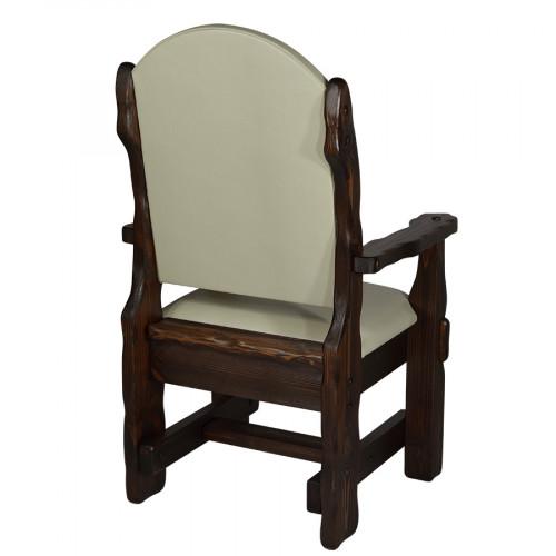 """Кресло из массива сосны под старину """"Купец""""  (кожа)"""